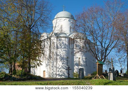 Assumption Cathedral in the Old Ladoga, Uspensky monastery. Old Ladoga, Russia