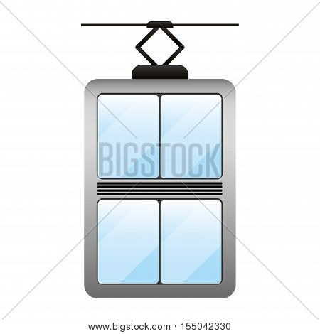 elevator technology device icon over white background. vector illustration