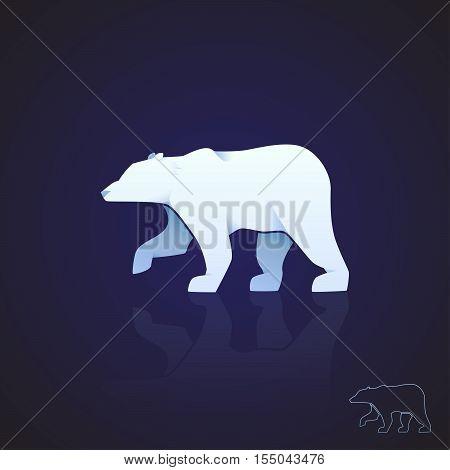 Abstract logo polar bear. Vector illustration EPS10.