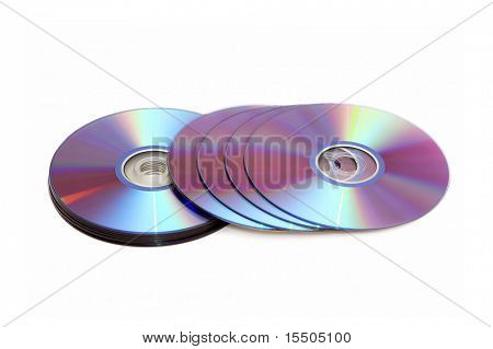 digital disks isolated on a white background