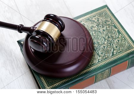Law Gavel And Book Composition.