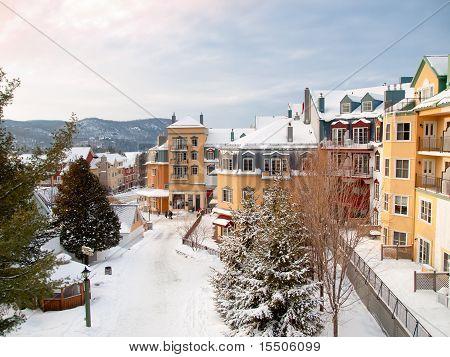 Beautiful Mount-tremblant Ski Resort Village