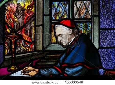 Cardinal Mercier - Stained Glass