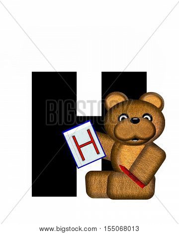 Alphabet Teddy Homework H