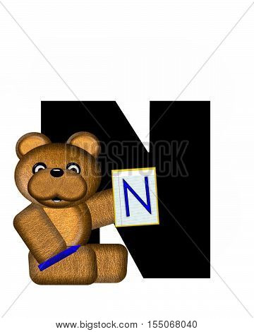 Alphabet Teddy Homework N