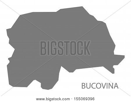Bucovina Romania Map grey vector illustration high res