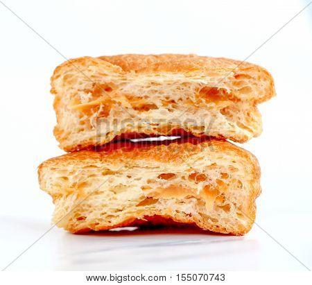 picture of a puff pastry stuffed with milk cream dulce de lache