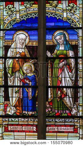 Stained Glass - Saint Ana And Saint Elisabeth