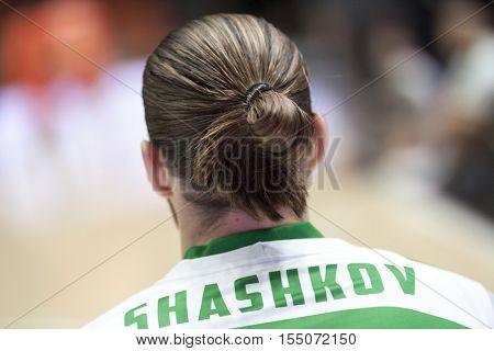 VALENCIA, SPAIN - NOVEMBER 2nd: Semen Shashkov during Eurocup match between Valencia Basket and Union Olimpija Ljubljana at Fonteta Stadium on November 2, 2016 in Valencia, Spain
