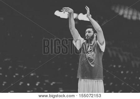 VALENCIA, SPAIN - NOVEMBER 2nd: Nikola Jankovic during Eurocup match between Valencia Basket and Union Olimpija Ljubljana at Fonteta Stadium on November 2, 2016 in Valencia, Spain