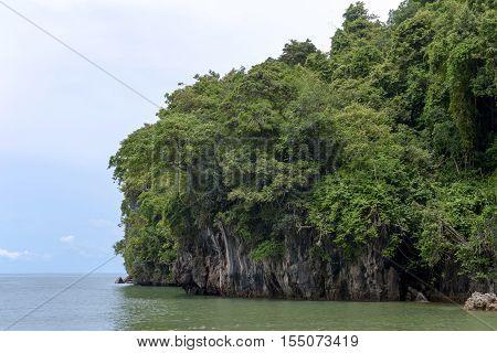 nature  cliffs of YONG LING Beach Thailand
