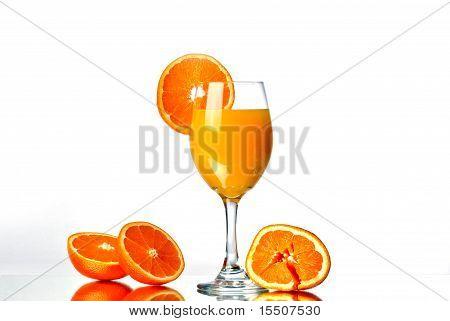 Isolated orange juice