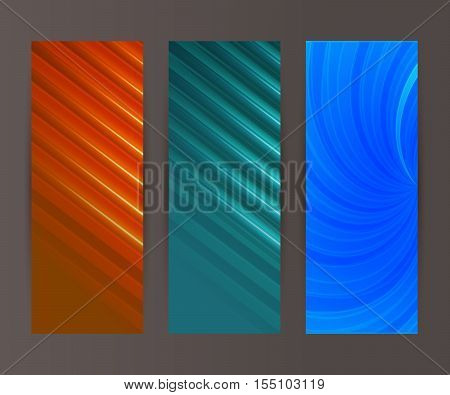 Vertical Banner Set Design Element Background Glow Abstract Shape03