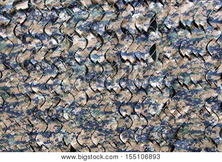 Texture of army digital military camouflage nets
