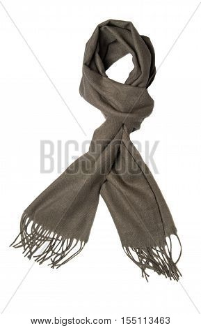 Scarf Isolated On White Background.gray Scarf . Scraf Top View