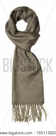 Scarf Isolated On White Background. Scraf Top View