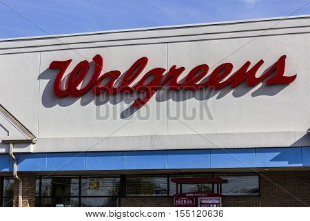 Indianapolis - Circa November 2016: Walgreens Retail Location. Walgreens is an American Pharmaceutical Company IX