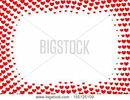 Heart frame for foto. Vector from red heart quiality frame