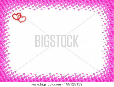 Heart frame for foto. Vector from pink heart quiality frame