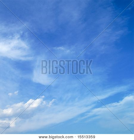 beautiful blue sky