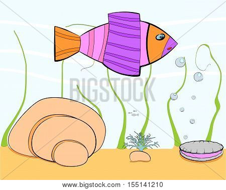 small cartoon sea world for your further use