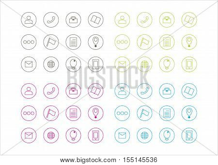 icon collection for business series 3 template vector