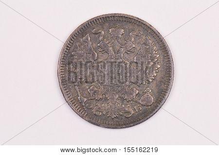Coin twenty kopecks 1911 Russia St Petersburg Mint downside