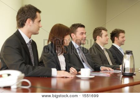 Conference, Group Of Five Business People