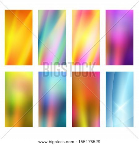 Vertical Banner Set Design Element Background Glow Abstract Shape40