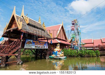 Ancient Floating Wooden Village