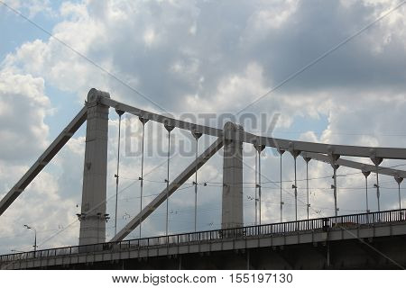 The fragment of the Crimean Bridge. Moscow