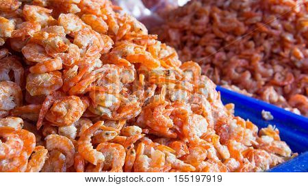 Dried shrimp dried small. In order to keep up And used as an ingredient in food. Salty taste delicious