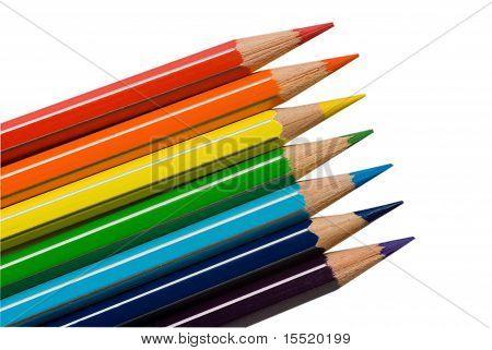 Rainbow Colors Pencils