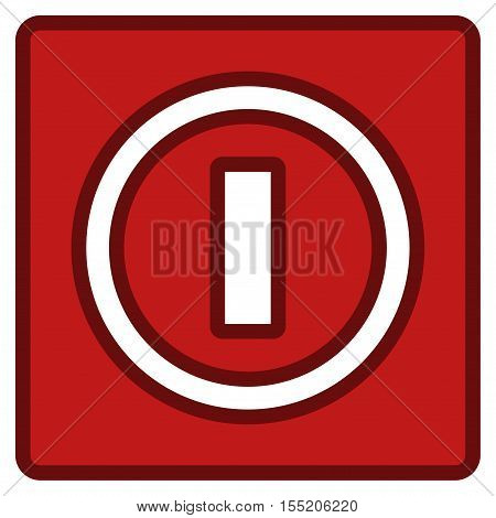 Turn Off Switch interface icon. Vector pictogram style is a flat symbol with contour edges.