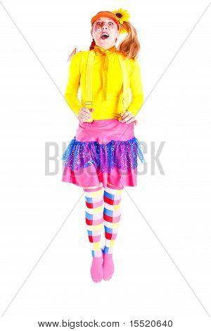 A Girl Dressed As Pippi Longstocking