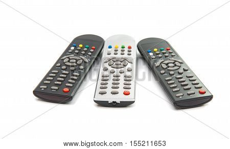 TV remote command isolated on white background