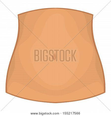 Female belly icon. Cartoon illustration of female belly vector icon for web design