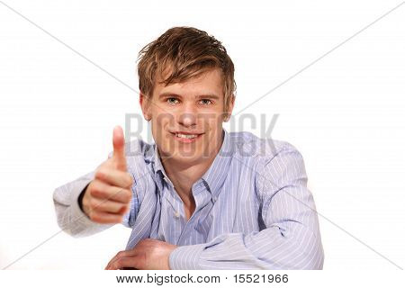 Guy Thumbs Up Sign