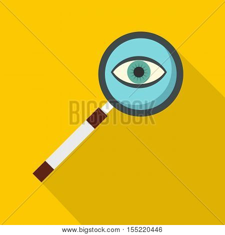 Magnifying glass icon. Flat illustration of magnifying glass vector icon for web
