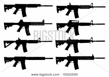 Silhueta de armas
