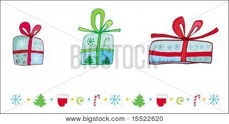 christmas presents - design elements