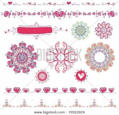 Valentine-Design-Elemente.  Um ähnliche Designelemente, bitte besuchen Sie meine Galerie zu sehen.