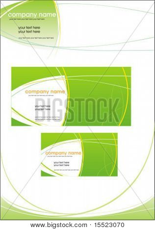 Vector business stationery set.