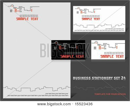 Vector business stationery set 25