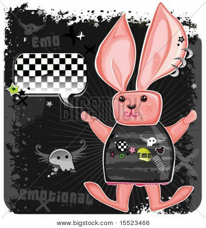 Funky Emo Rabbit.  To see similar, please VISIT MY GALLERY.