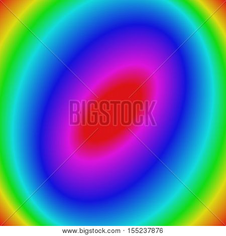 Multicolored abstract gradient elliptical background - vector illustration