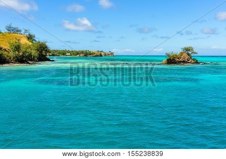 Small Island Near Nacula Island In Fiji
