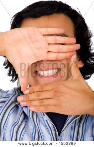 Hand Framing A Smile
