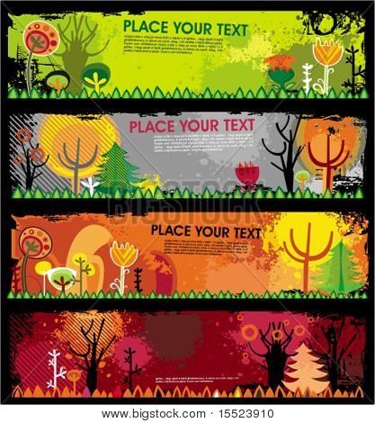 Autumn banners. To see similar, please VISIT MY GALLERY.