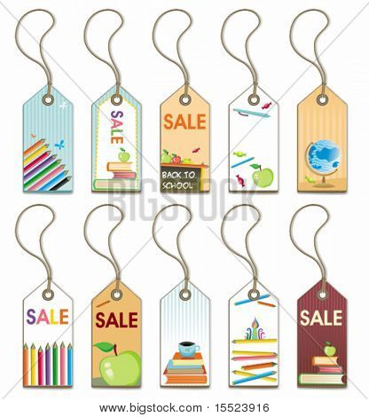 Back to school - tags set. To see similar, please VISIT MY GALLERY.